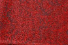 Mörker - röd texturerad torkduk Royaltyfri Foto