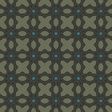 Mörker - sömlösa modeller för grön universell vektor som belägger med tegel geometriska prydnadar Royaltyfri Fotografi