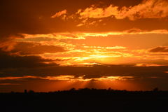 Mörker Sunset-2 Royaltyfri Fotografi
