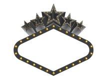 Mörker vaggar toppna stjärnor Royaltyfria Bilder