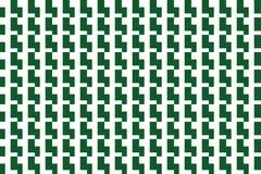 Mörker - vit geometrisk sömlös tegelplatta för gräsplan & vektor illustrationer