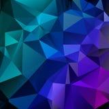 Mörkt - blå violett modell triangulär mall Geometrisk sampl vektor illustrationer