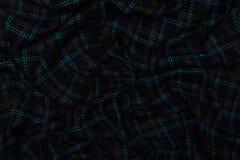 Mörkt - blått kontrollerat tyg med textiltexturbakgrund arkivbilder