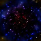 Mörkt disigt universum stock illustrationer