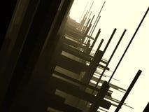 mörkt futuristic för konstruktioner Arkivfoton