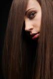 mörkt hår Arkivbild