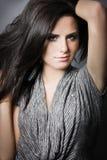 mörkt hår för attraktiv brunett long Royaltyfria Foton