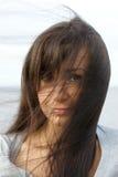 mörkt hår long Royaltyfria Foton