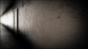 Mörkt hall med dörrar Den ruskiga korridoren arkivfilmer