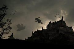 mörkt halloween ställe Fotografering för Bildbyråer