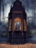 Mörkt kapell med den gröna murgrönan Royaltyfri Foto