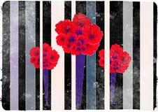 Mörkt Karnation blommakort Arkivbilder