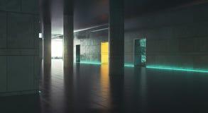 Mörkt korridorwiithdagsljus Royaltyfri Fotografi