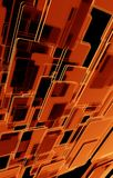 Mörkt - orange bakgrund Arkivfoton