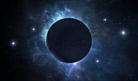 mörkt planet stock illustrationer