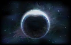 mörkt planet Arkivfoto