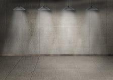 Mörkt rum med lampor vektor illustrationer
