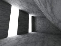 Mörkt tomt konkret rum för stenväggar Modern grunge för arkitektur stock illustrationer