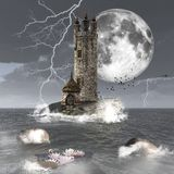 Mörkt torn stock illustrationer