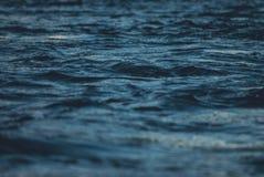 Mörkt vatten i floden fotografering för bildbyråer