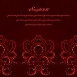 Mörkt victorianhälsningkort Rött färga Arkivbilder