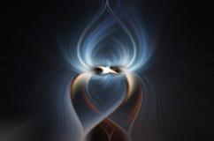 Mörkt vridande spiralabstrakt begrepp Royaltyfria Foton