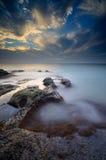 möt igen soluppgången fotografering för bildbyråer