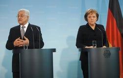 Möte Abbas Merkel 2007 Arkivbild
