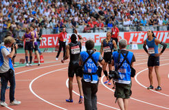 MÖTE AREVA, Paris IAAF Diamond League Arkivfoton