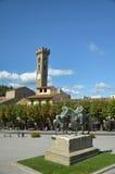 Möte av Garibaldi och konungen Vittorio Emanuele II Arkivfoton