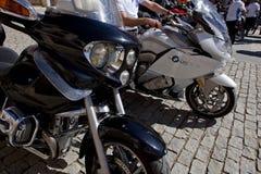 Möte av mopedägare av BMW K 1600 Arkivbild