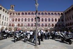 Möte av mopedägare av BMW K 1600 Royaltyfri Bild