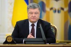 Möte av nationell säkerhet- och försvarrådet i Kiev, Ukrain Royaltyfria Foton