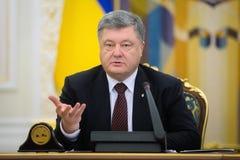 Möte av nationell säkerhet- och försvarrådet i Kiev, Ukrain Royaltyfria Bilder