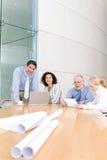 möte för arkitektaffärsgrupp Arkivbild