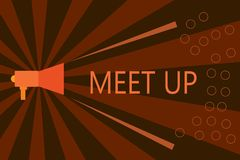 Möte för handskrifttexthandstil upp Samarbete för grupp för diskussion för teamwork för begreppsbetydelse informellt mötande anna stock illustrationer
