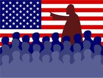 möte USA royaltyfri illustrationer