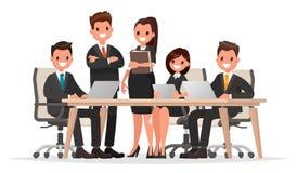 Möteaffärsfolk Teamwork Diskussion av företags`en s b royaltyfri illustrationer