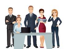 Möteaffärsfolk Teamwork Kontorslagdiskutera och idékläckning stock illustrationer