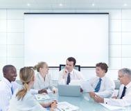 Mötekonferensseminarium Team Teamwork Support Planning Concep royaltyfri fotografi