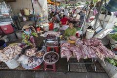 Mötesäljare i den Ho Chi Minh staden Arkivfoton