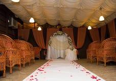 Mötesplats för bröllopceremonin Arkivbilder