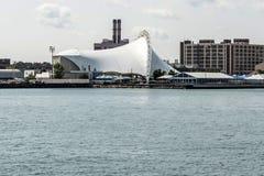 Mötesplats för konsert för Boston Massachusetts USA Bank of Americapaviljong i södra Boston Arkivfoton