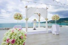 Mötesplats Samui Thailand för strandbröllop Royaltyfri Fotografi