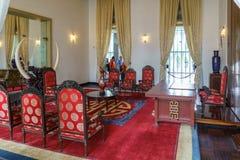 Mötesrum av presidenten på självständighetslotten Arkivbilder