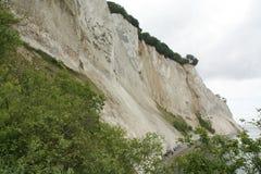 Møns chalk cliffs. Denmark Stock Photo