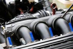 Múltiple de entrada del motor de coche Fotografía de archivo libre de regalías