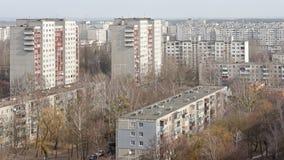 Múltiplos dos prédios em uma área urbana Vista de uma altura foto de stock royalty free