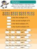 Múltiplos matemáticos Imagens de Stock Royalty Free
