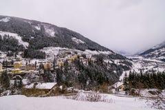 Mún Gastein durante invierno Fotos de archivo
